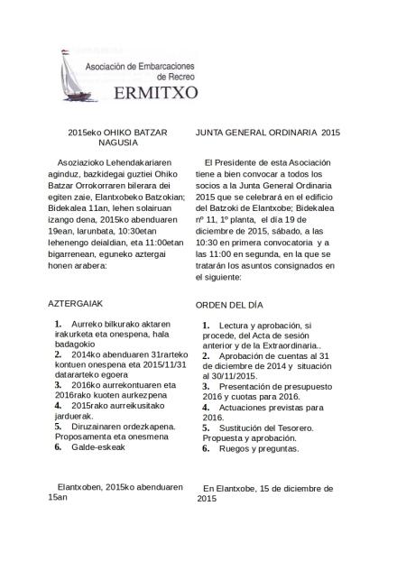 Convocatoria Asamblea Ordinaria 2015 eu_es